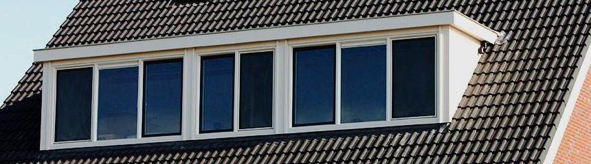 voorbeeld van een dakkapel 7,5 meter breed